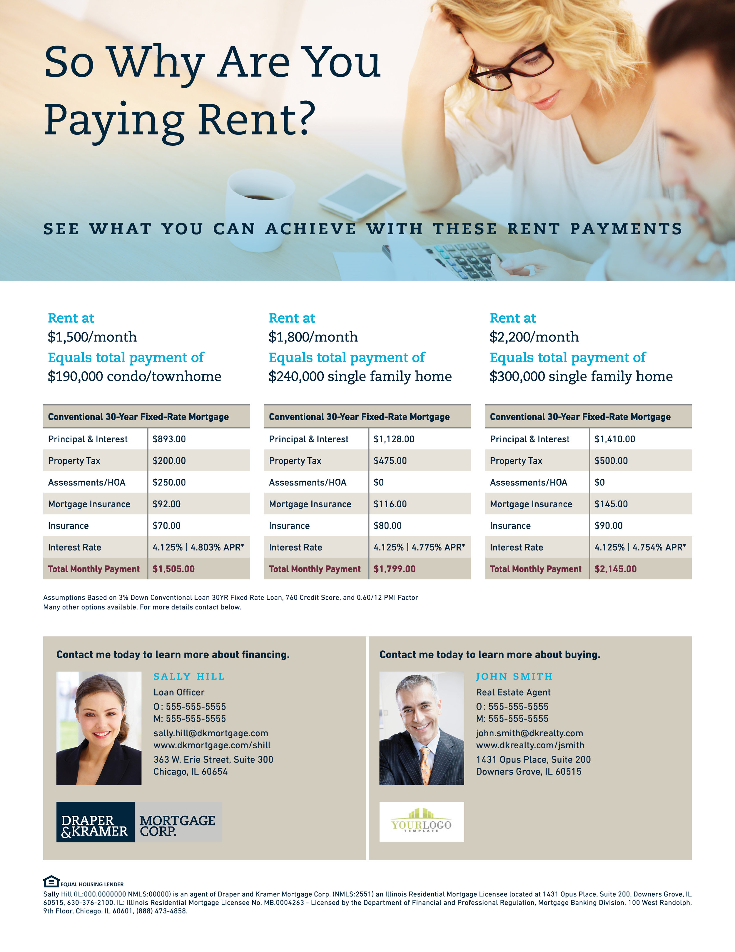 Flyer - Rent vs. Buy Comparison