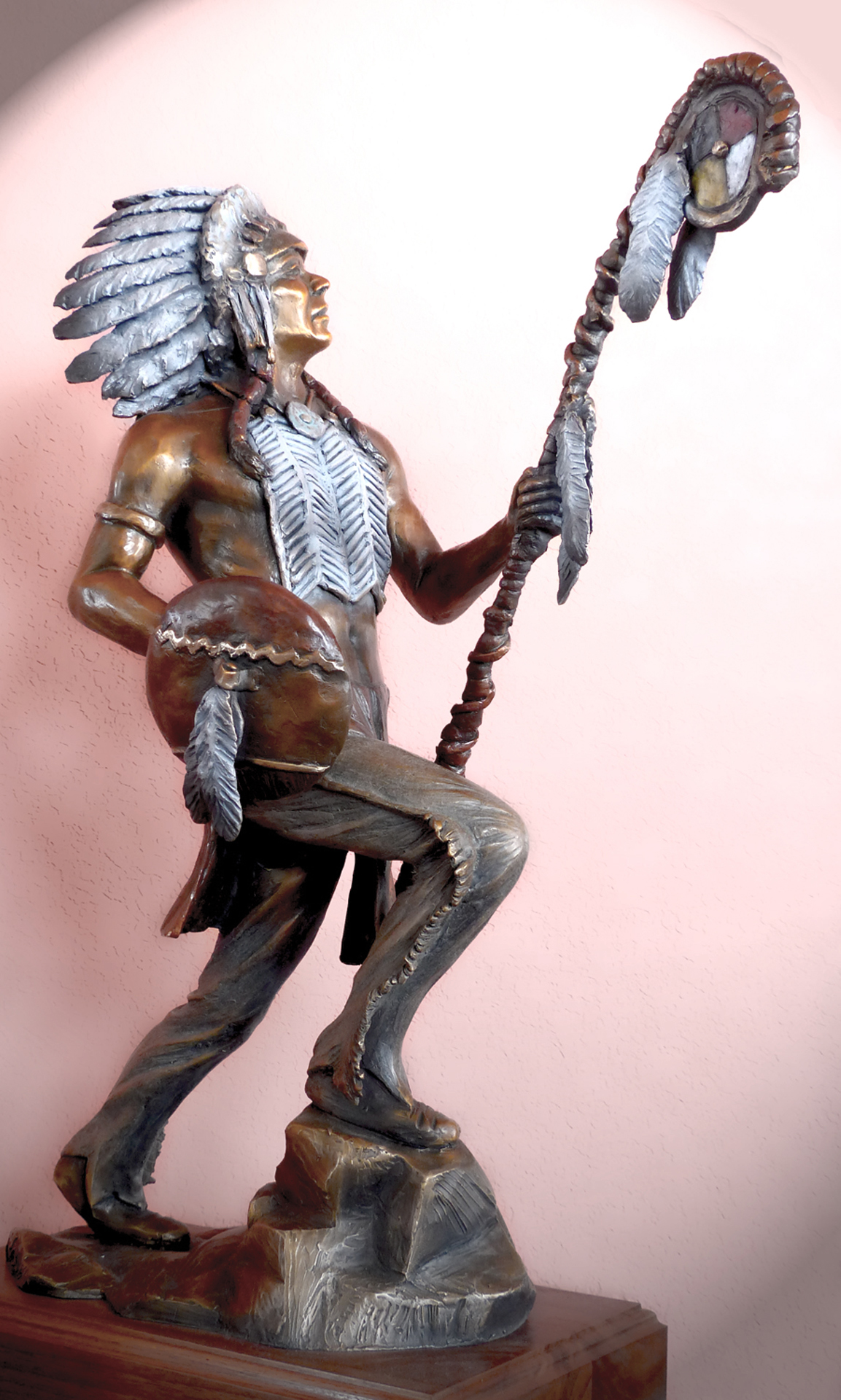 """The Warrior (small version) 22"""" tall. Price: $3600.00"""