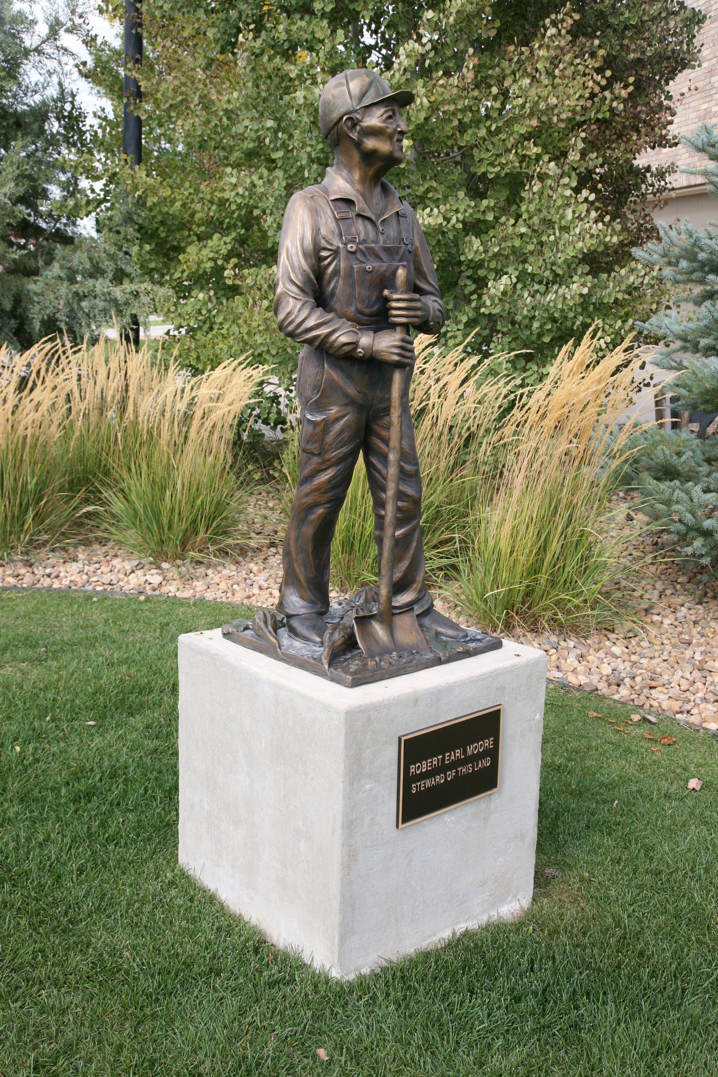 This life-size sculpture was commissioned by the City of Frederick, Colorado to commemorate it's historical past.  Life size and one half life size sculptures are available.