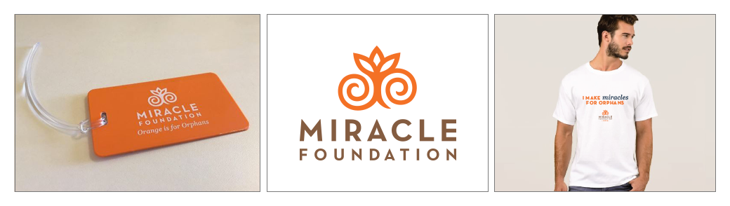 Miracle Foundation Luggage Tag, Logo Redesign, Apparel