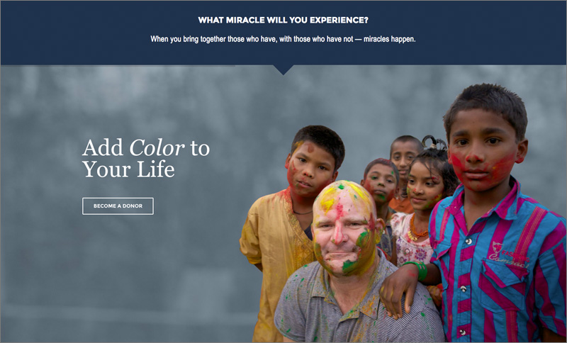 Miracle Foundation Donor Slider