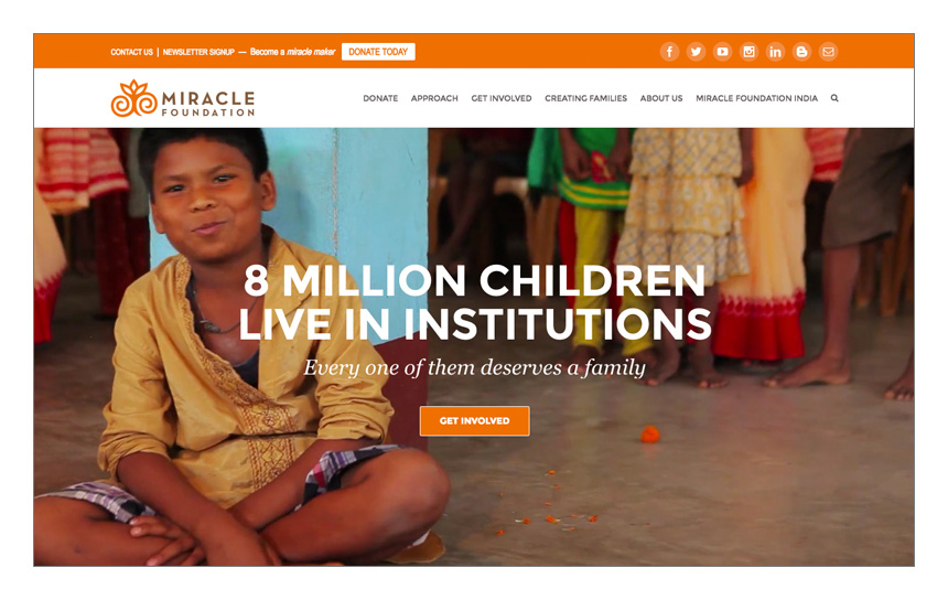 Magnetika Web Design: Miracle Foundation