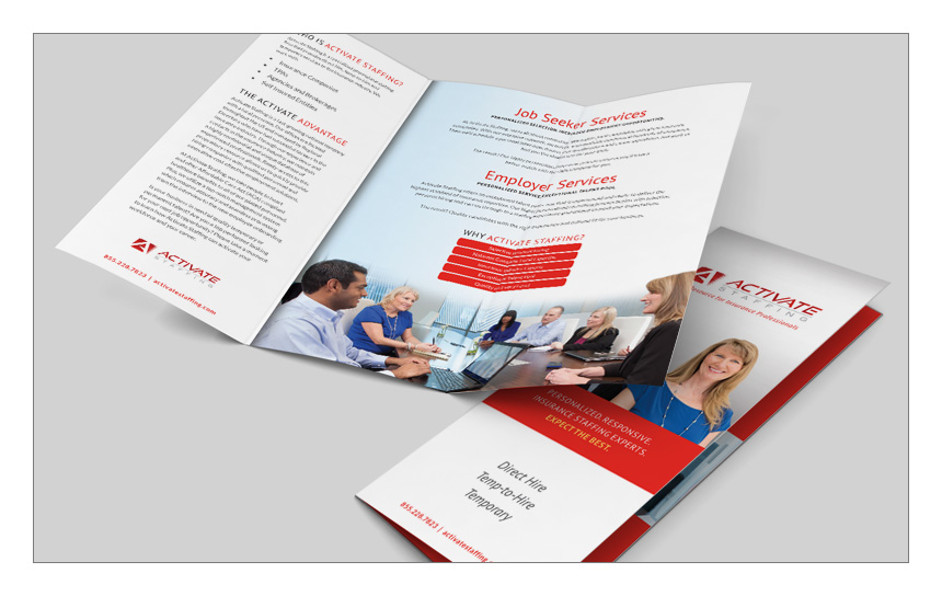 Magnetika Content Marketing Agency: Activate Staffing Brochure