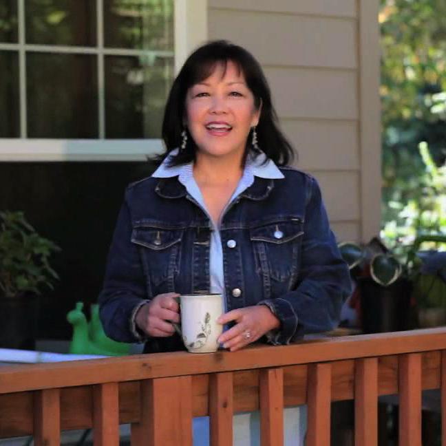 Video 'still' on Melissa's front porch.