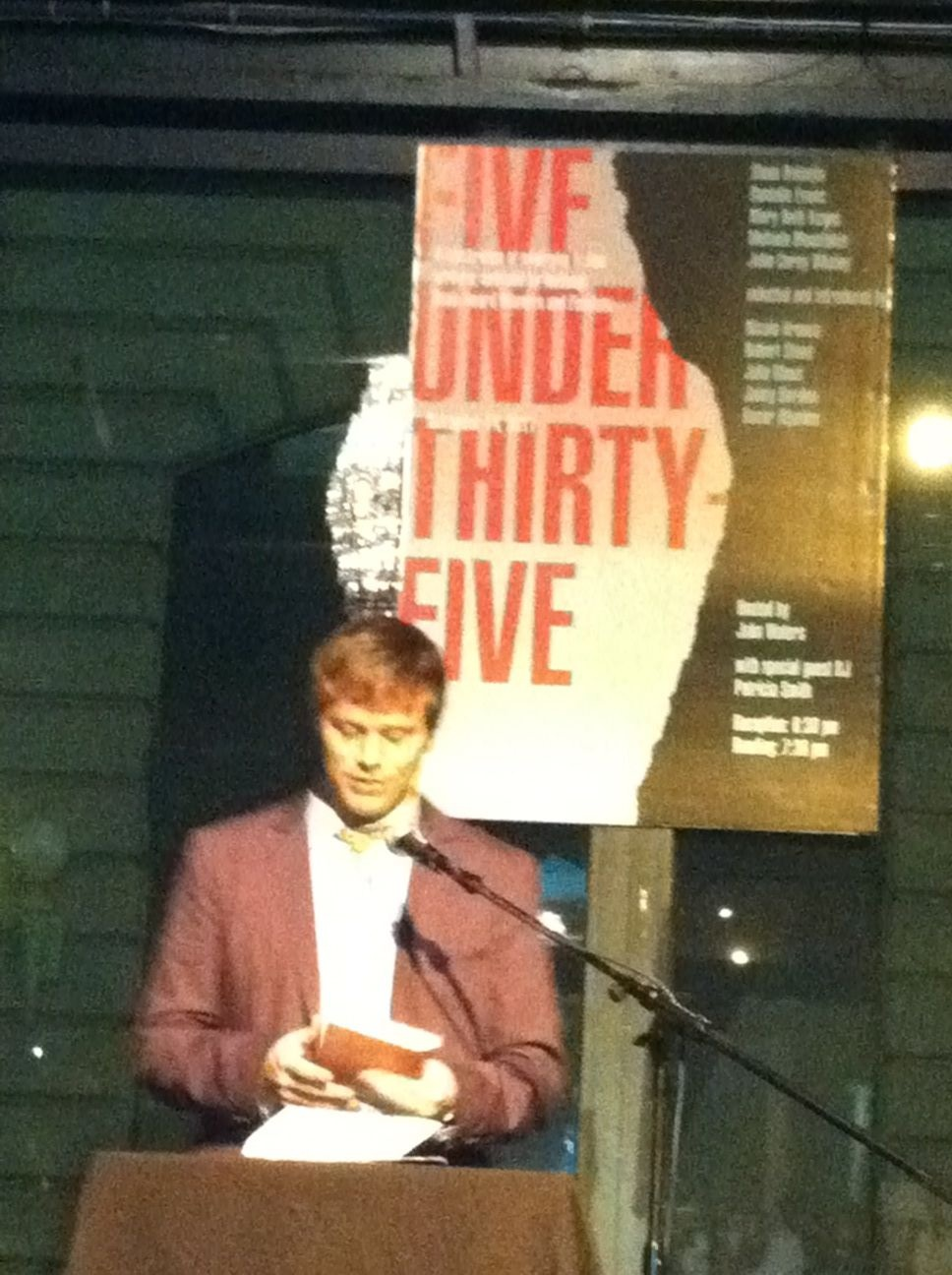 Whaley reading at the National Book Foundation's 5 Under 35 Party, Brooklyn, 2011.