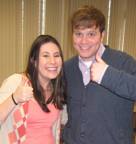 Corey with friend and librarian Stephanie Wilkes