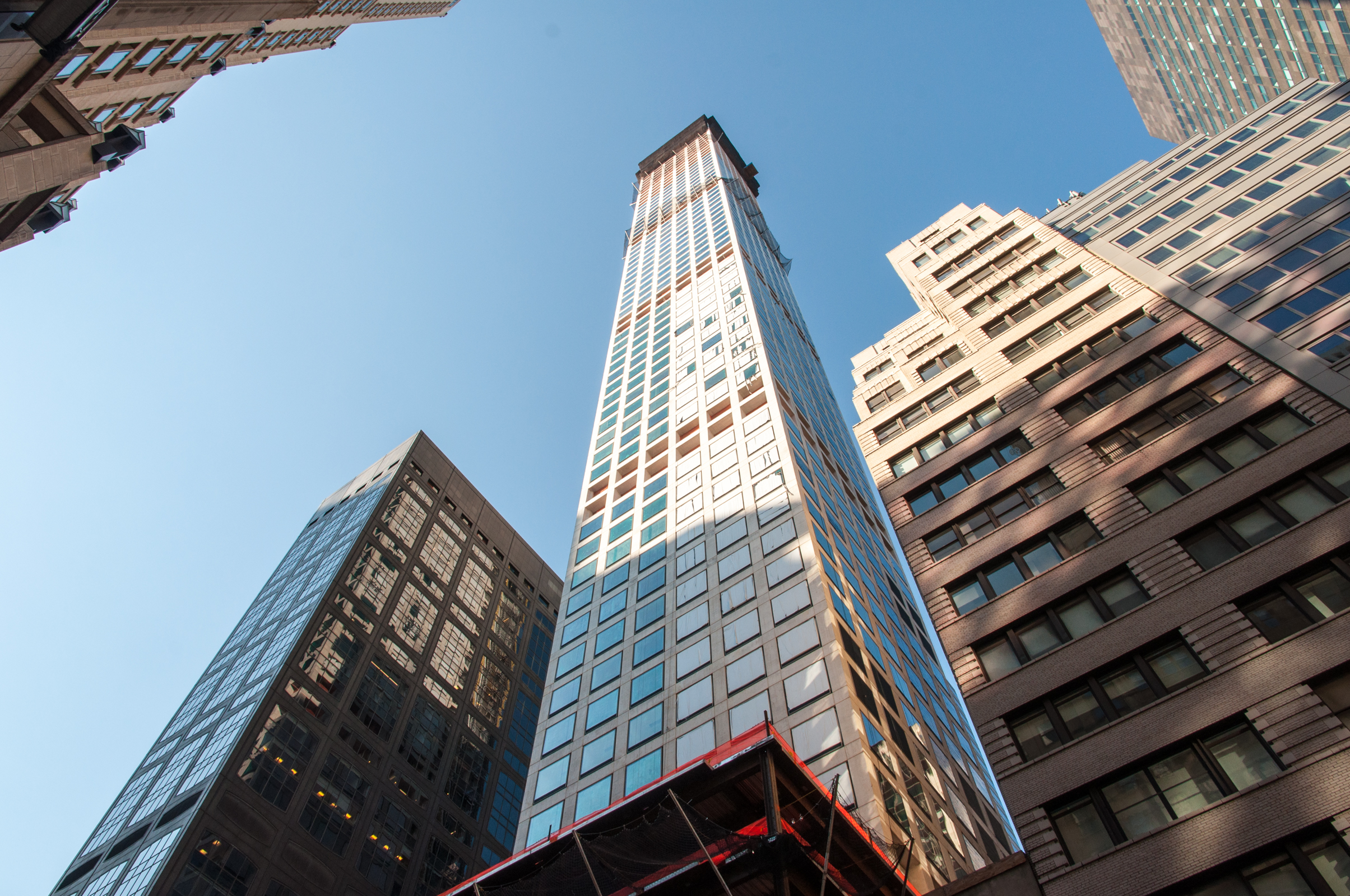 The northwest corner of the tower from East 57th Street.