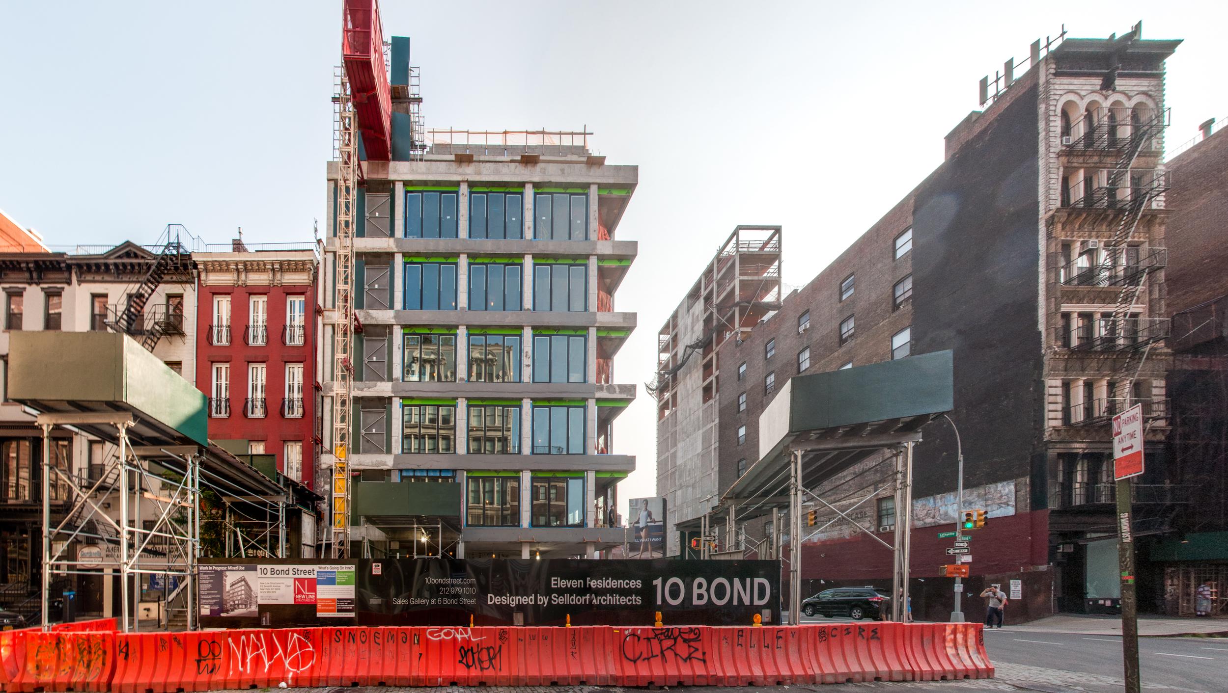 The south façade on Bond Street.