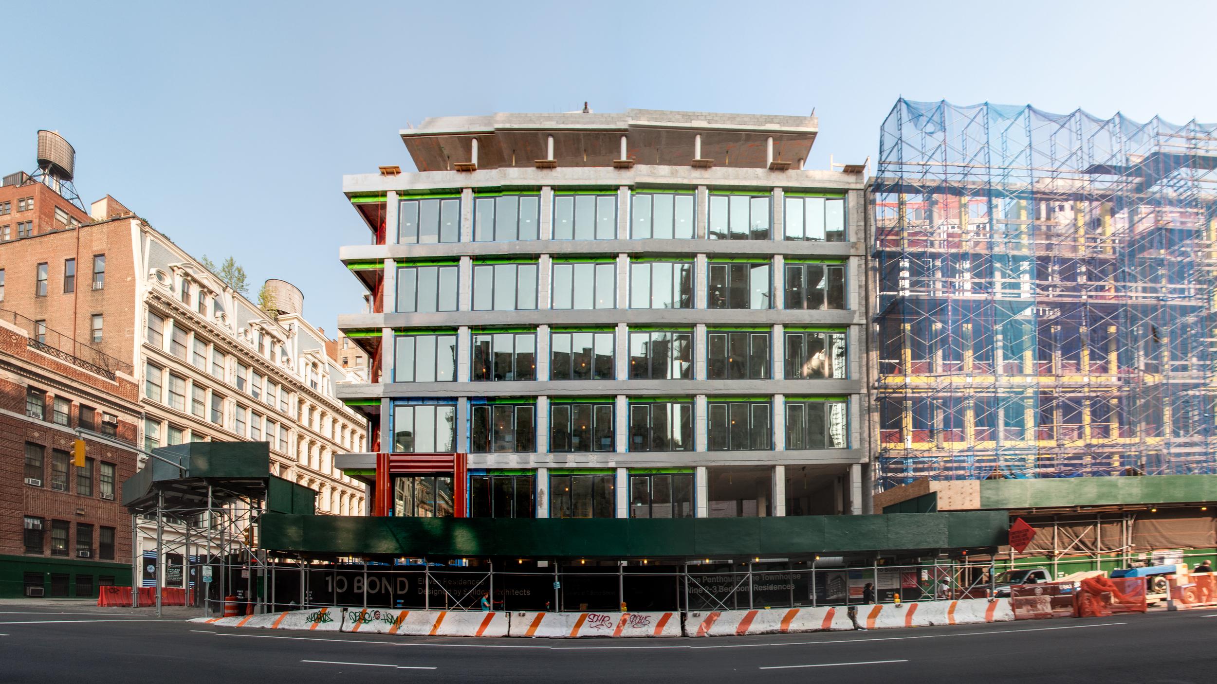 The east façade on Lafayette Street.
