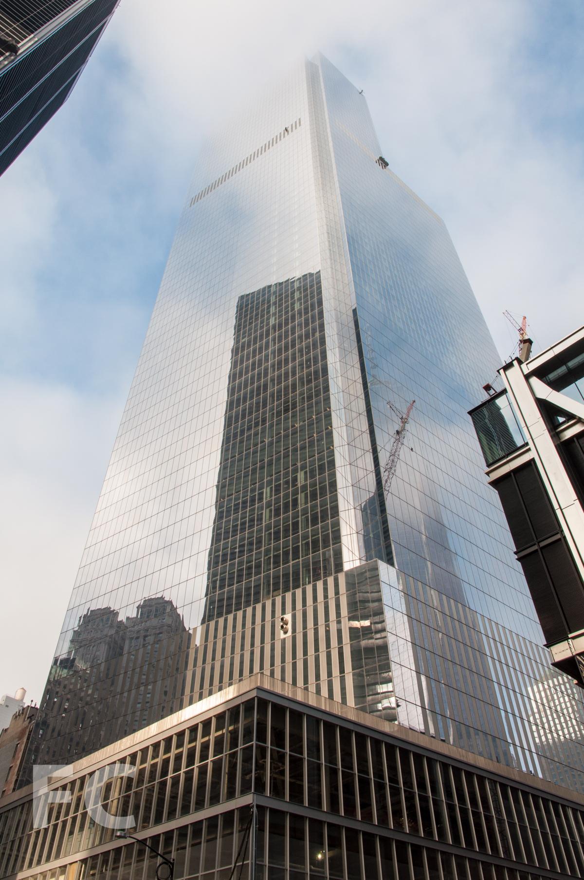 The northeast corner of 4 WTC.