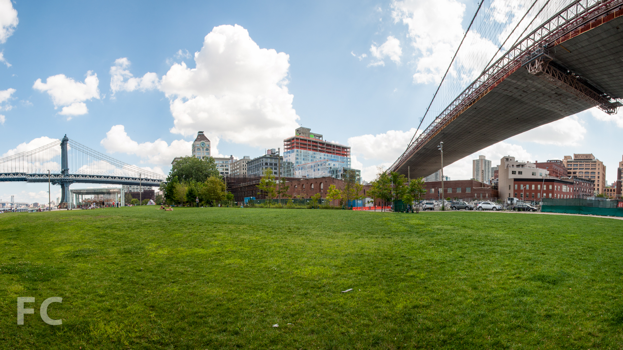 Looking southeast from Empire Fulton Ferry Park.