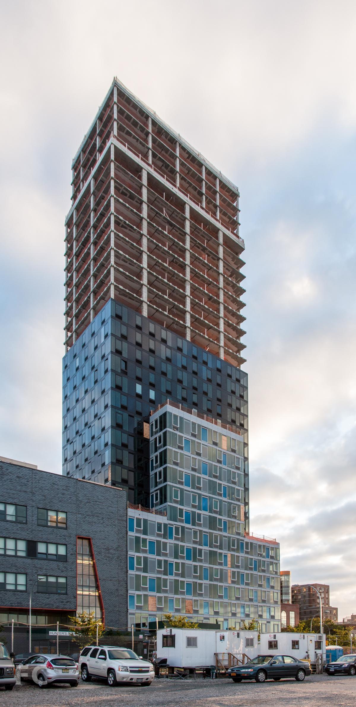 The south façade of Building B.