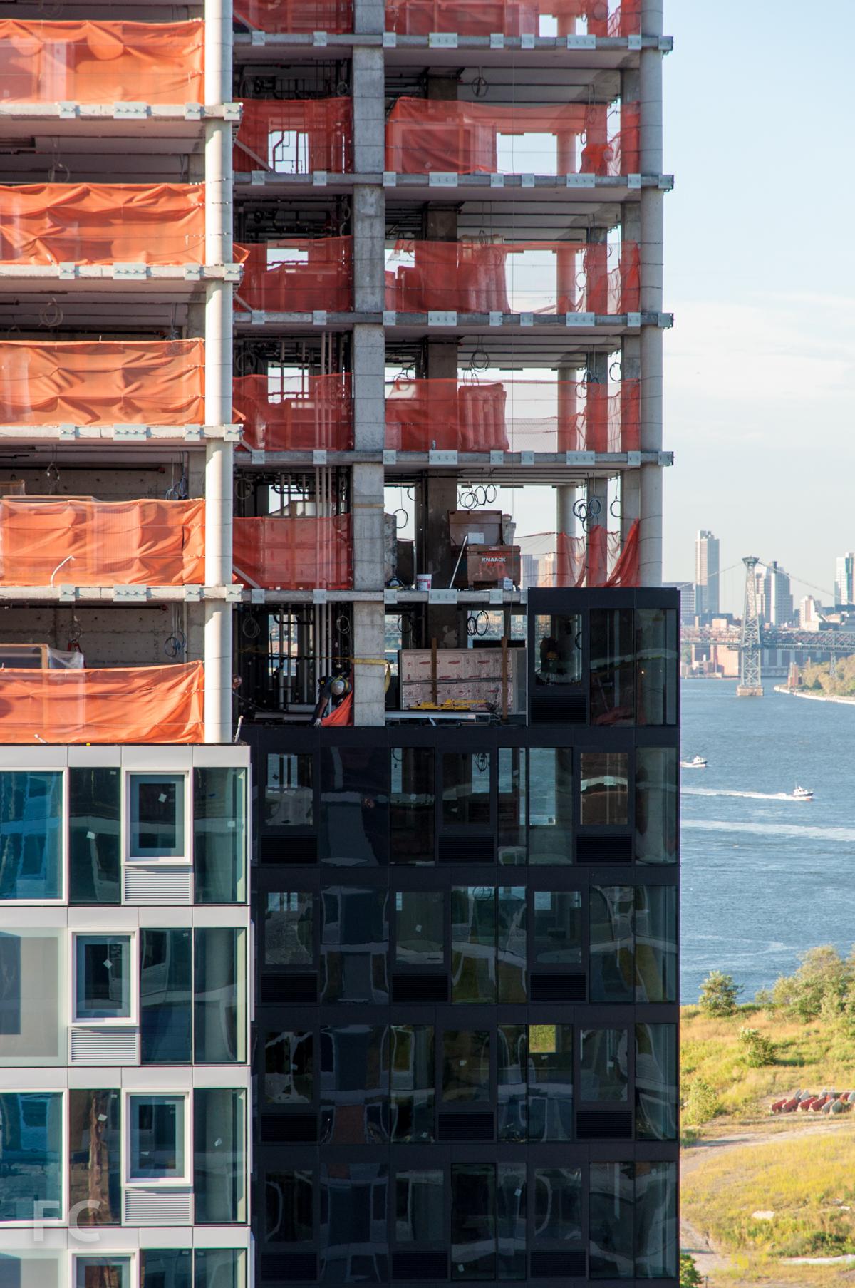 Façade installation on Building B.