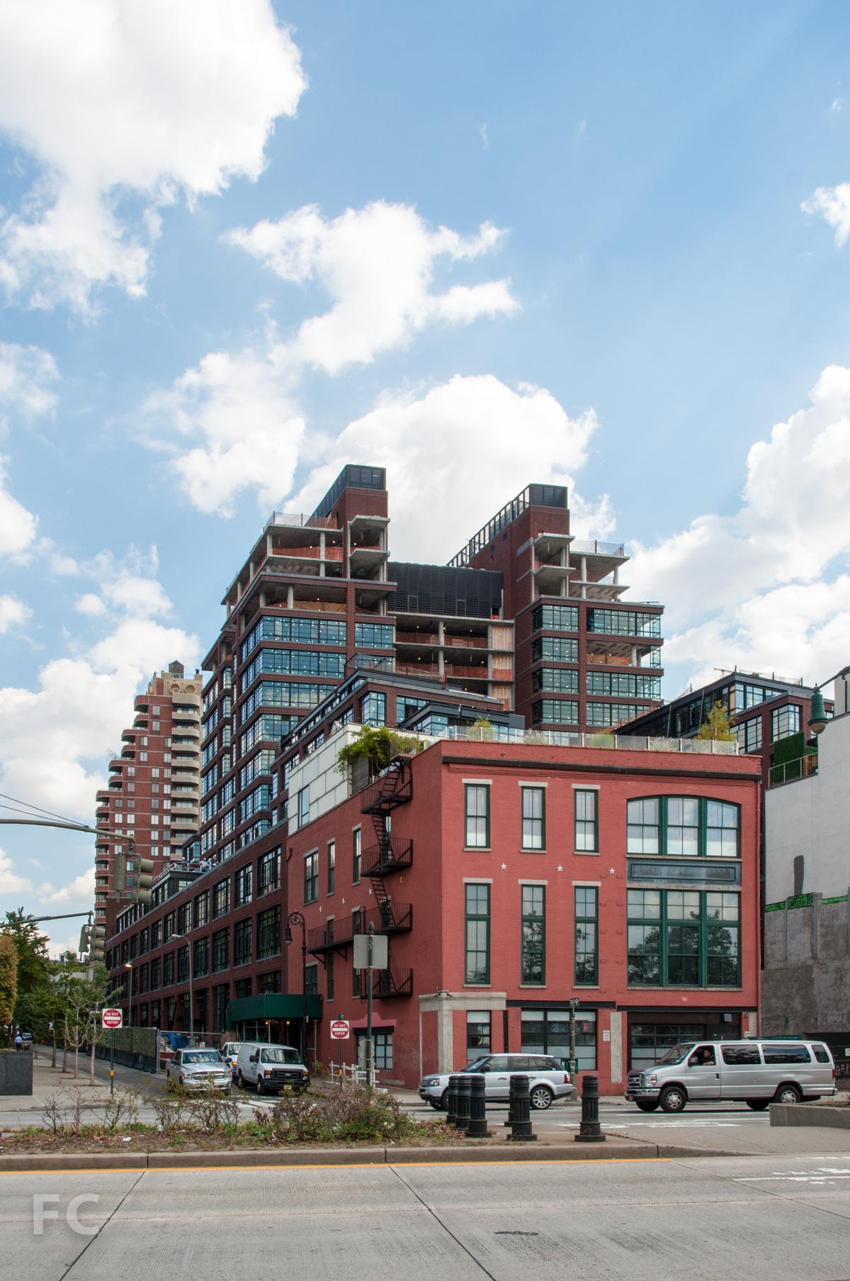 The northwest corner from West Street.