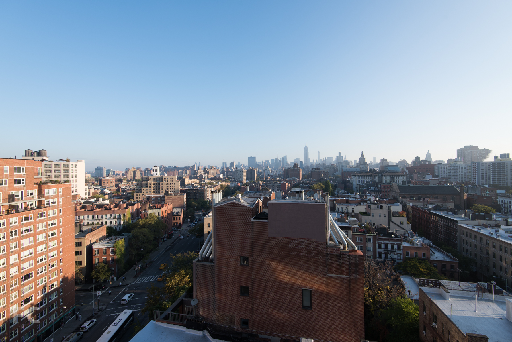Looking north to Midtown from the Penthouse B roof deck on floor 12.