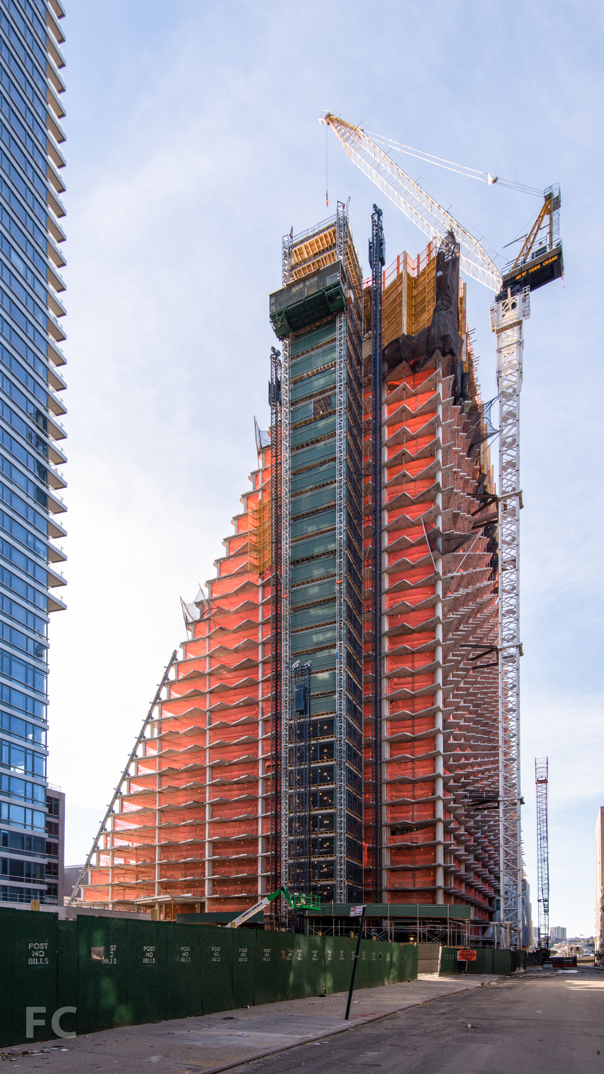 The northeast corner from West 58th Street.