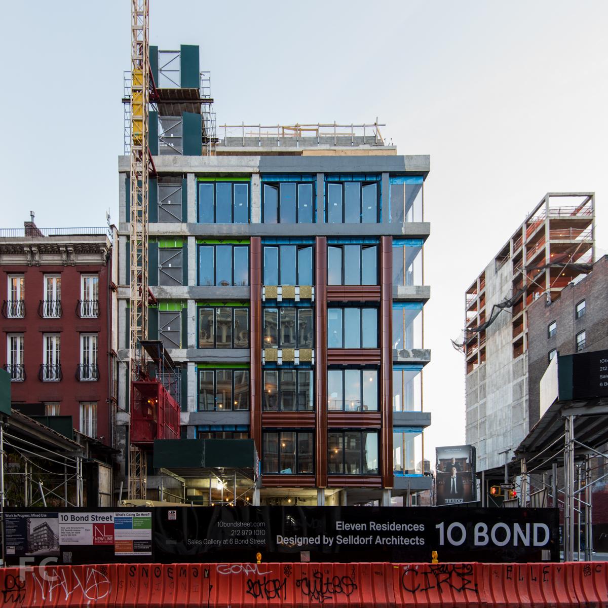 South façade from Bond Street.