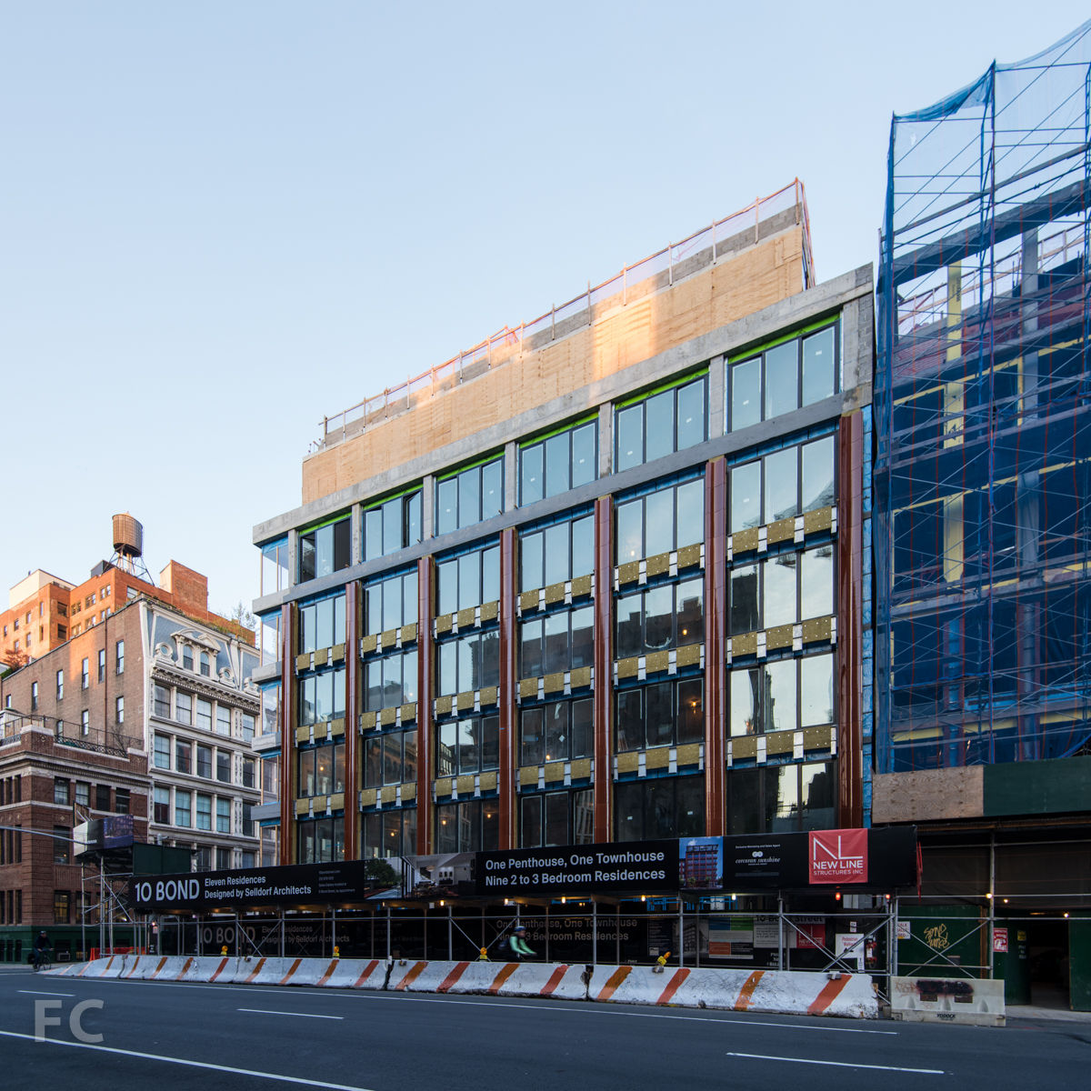 East façade from Lafayette Street.