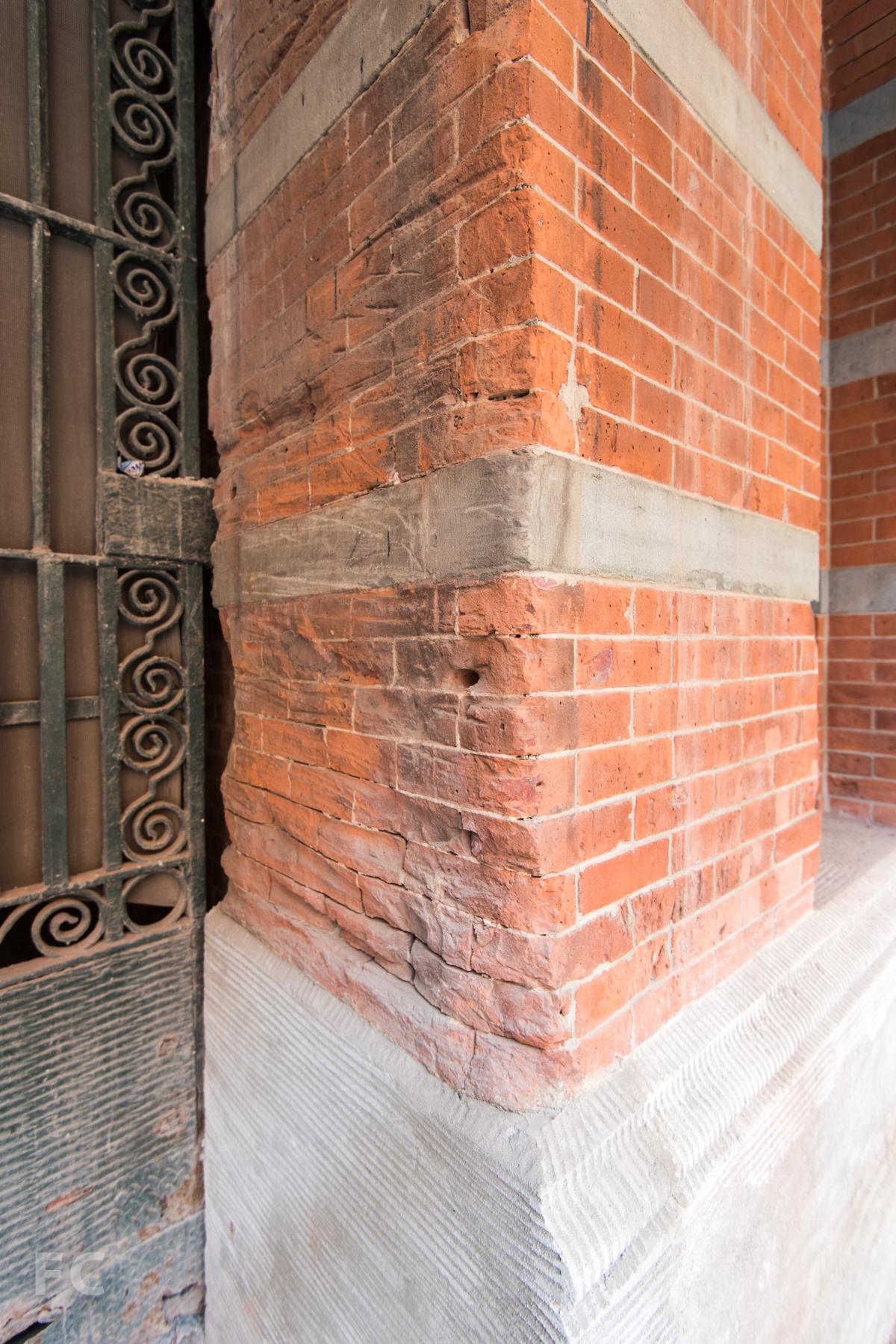 Detail of existing brickwork.