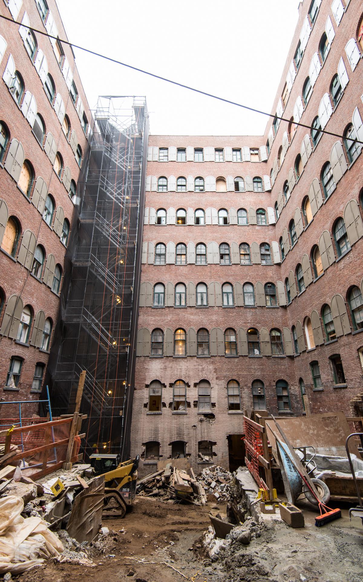 Courtyard under construction.