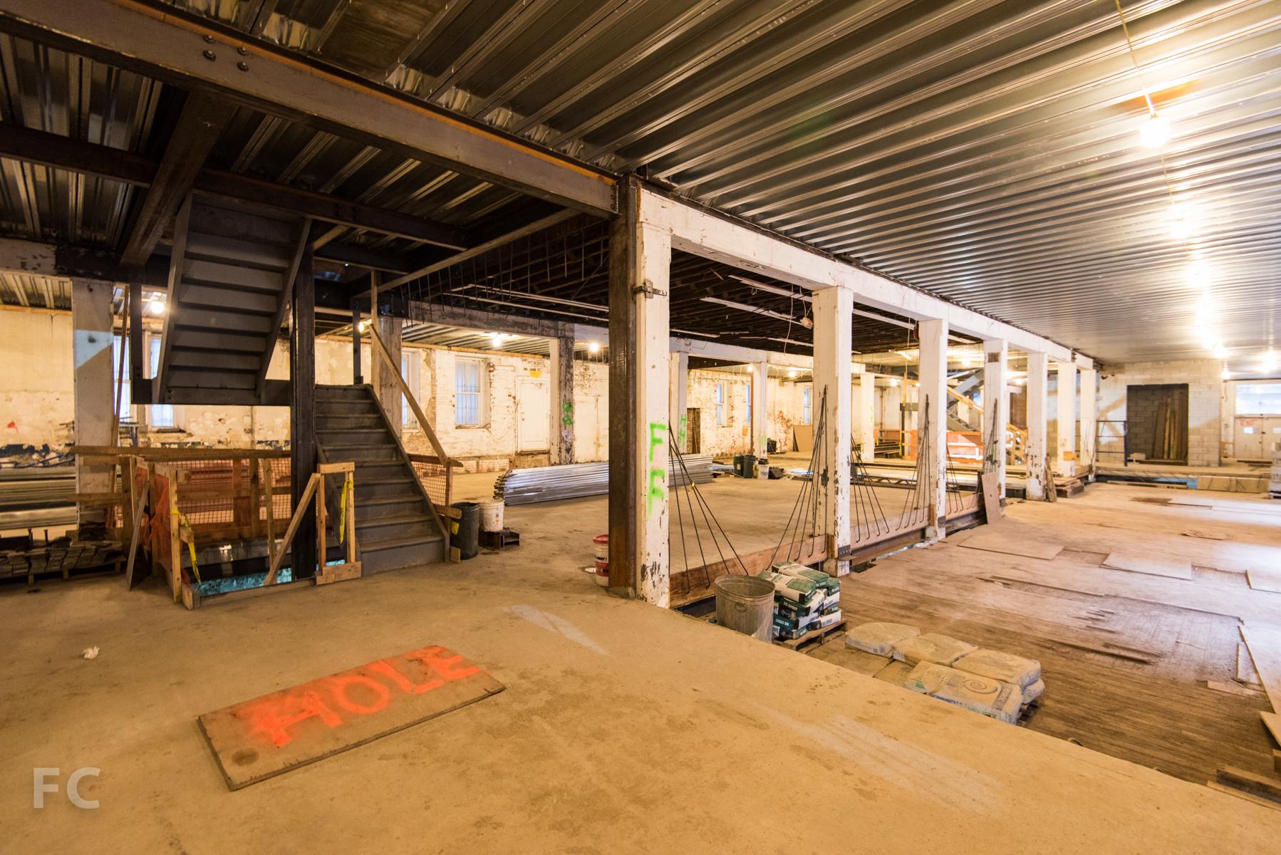 Ground floor under construction.