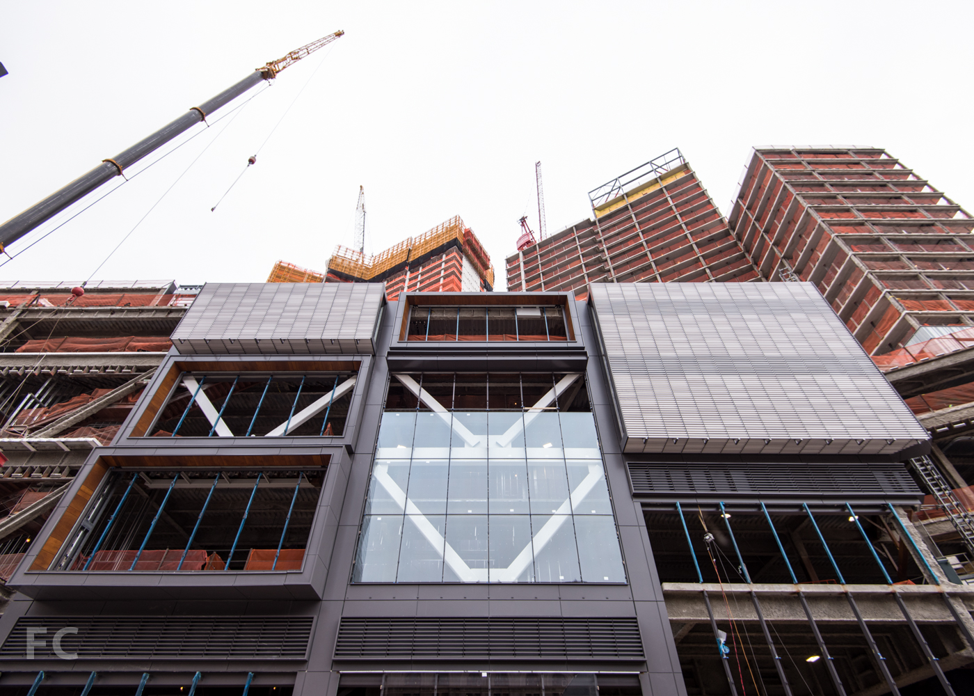 West facade of the Phase Two retail from Albee Square West.