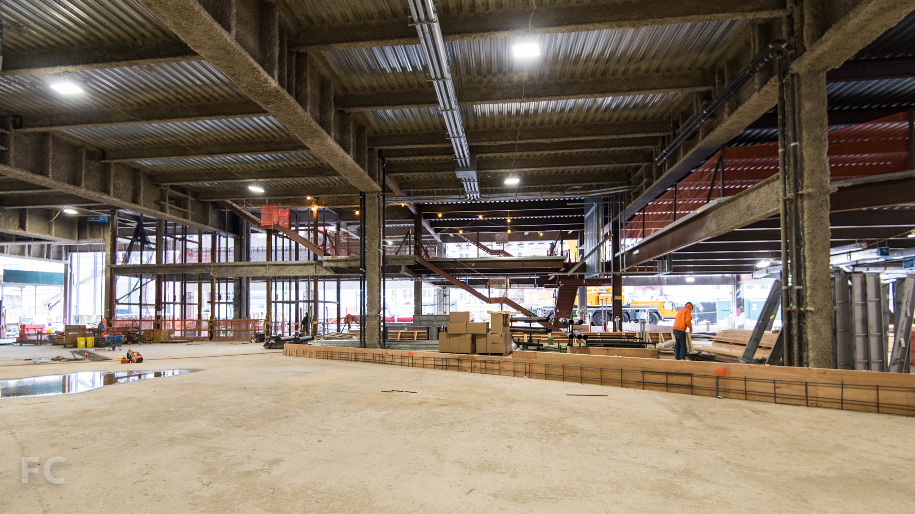 Interior of the ground floor retail of Phase Two.