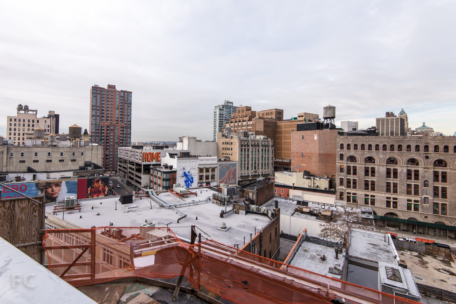 Southwest view from the roof of the Phase Two retail.