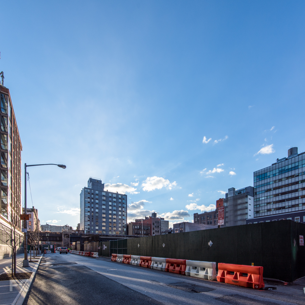 Northwest corner of the site from West 28th Street.