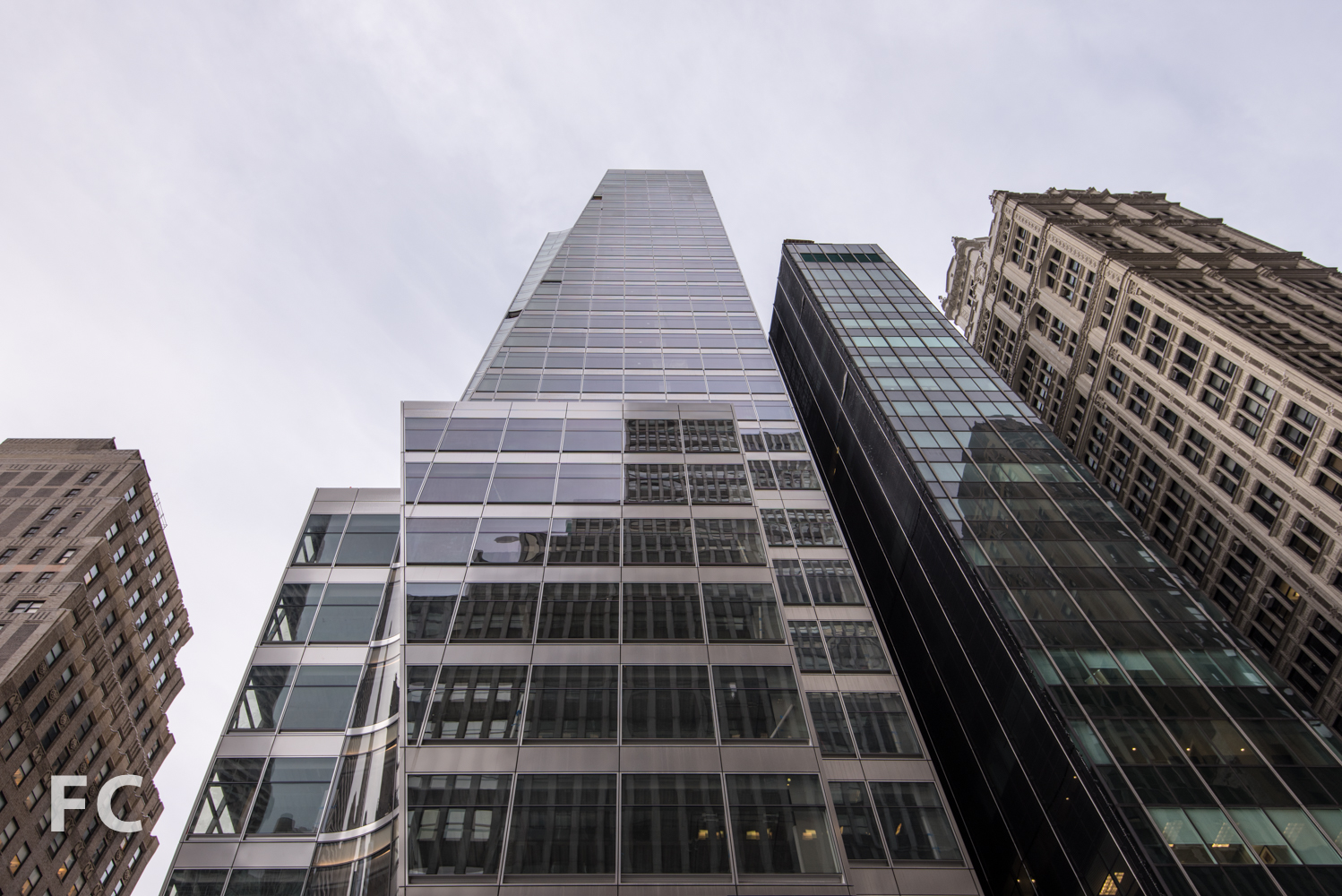 North façade from West 40th Street.
