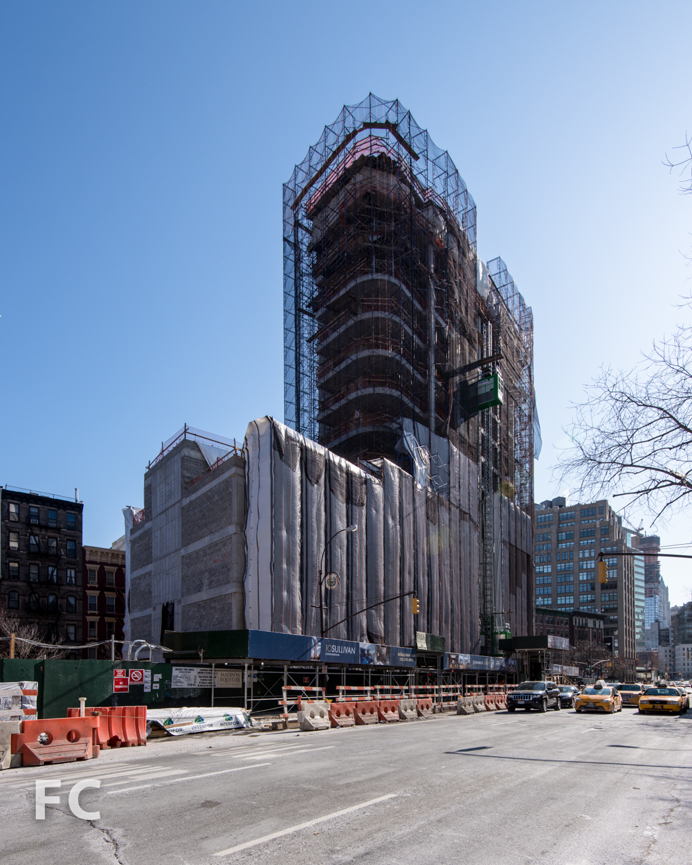 Northwest corner from Avenue of the Americas.