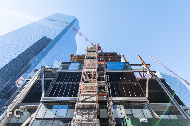 East facade of 3 World Trade Center from Church Street.