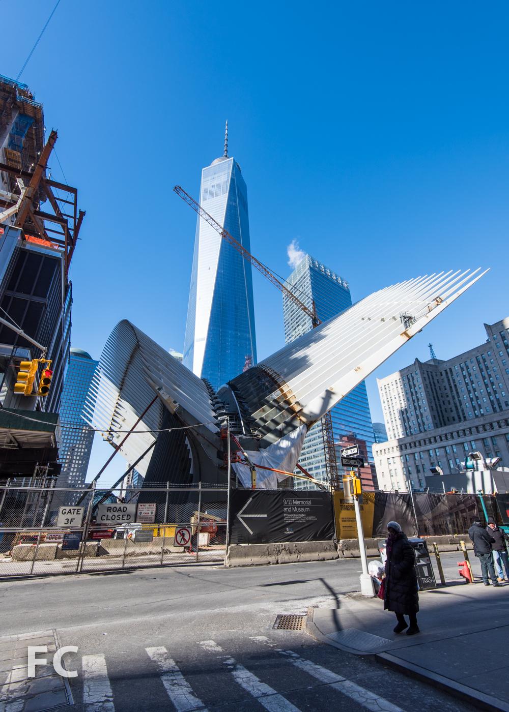 World Trade Center Transit Hub with 1World Trade Center (behind).