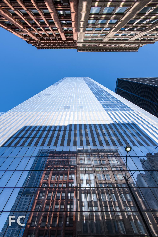 South facade of 4 World Trade Center from Liberty Street.