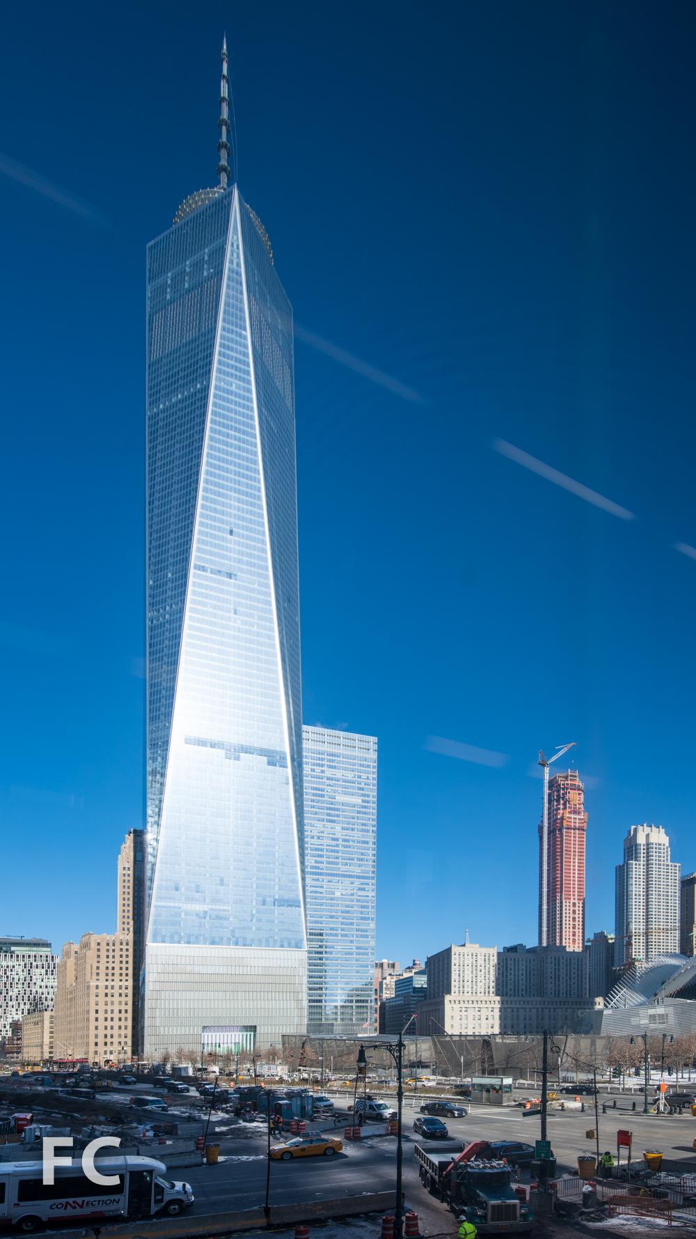 South facade of One World Trade Center.