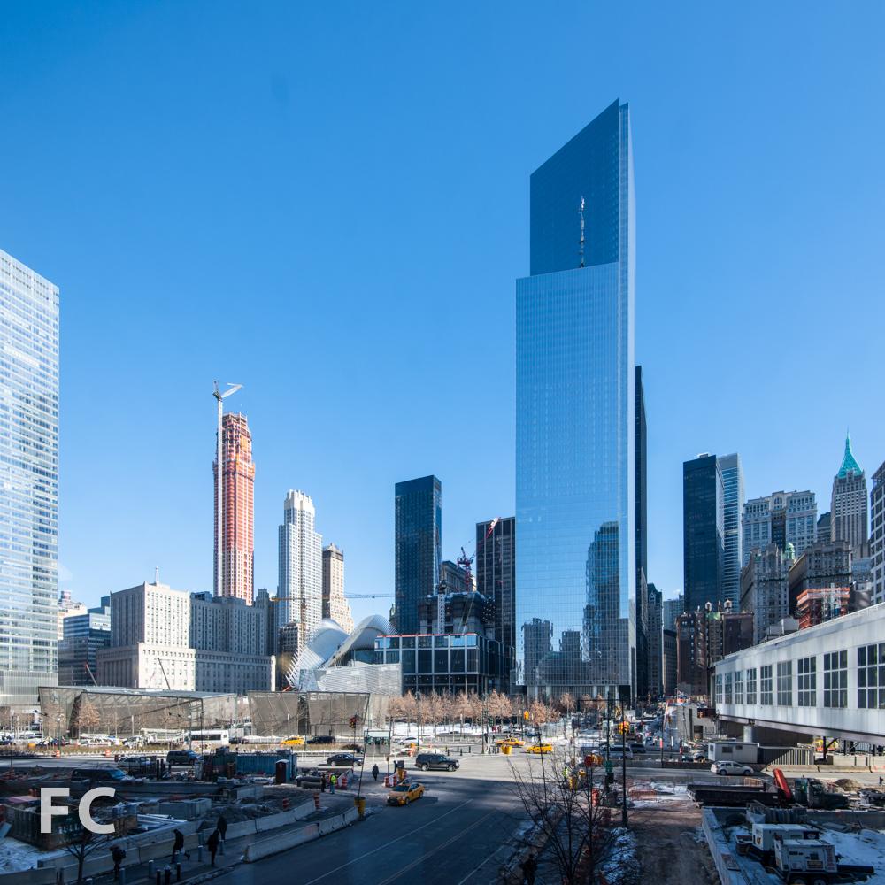 West facade of 4 World Trade Center.