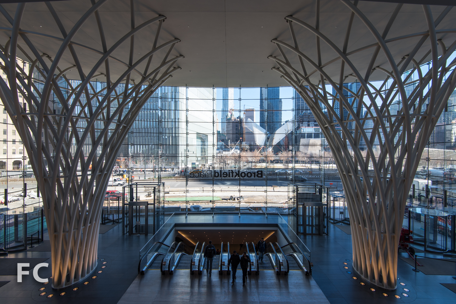 View of the World Trade Center site from Brookfield Place.