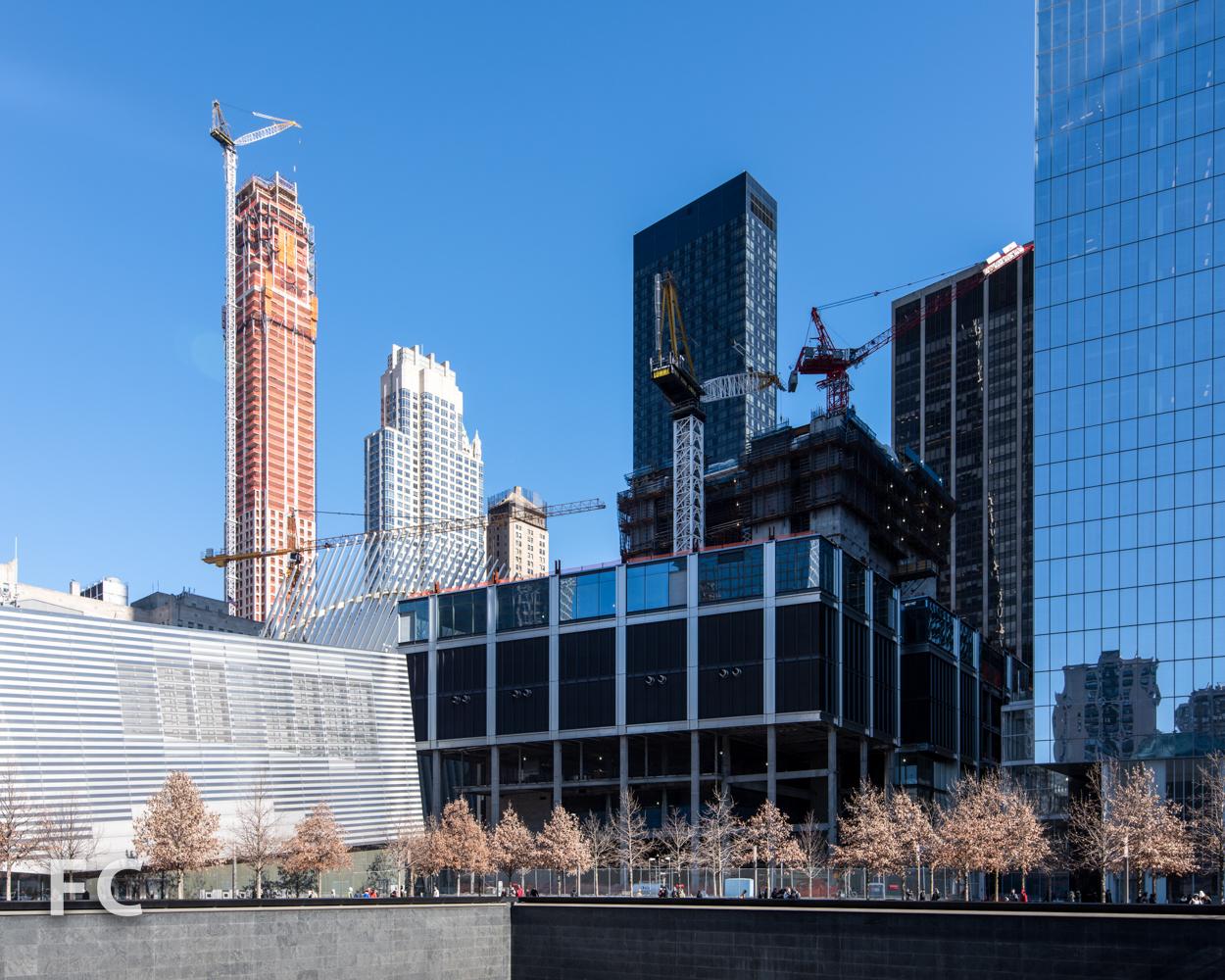 Southwest corner of 3 World Trade Center from the World Trade Center Memorial.