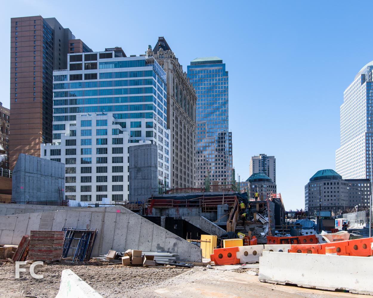 Liberty Park under construction.