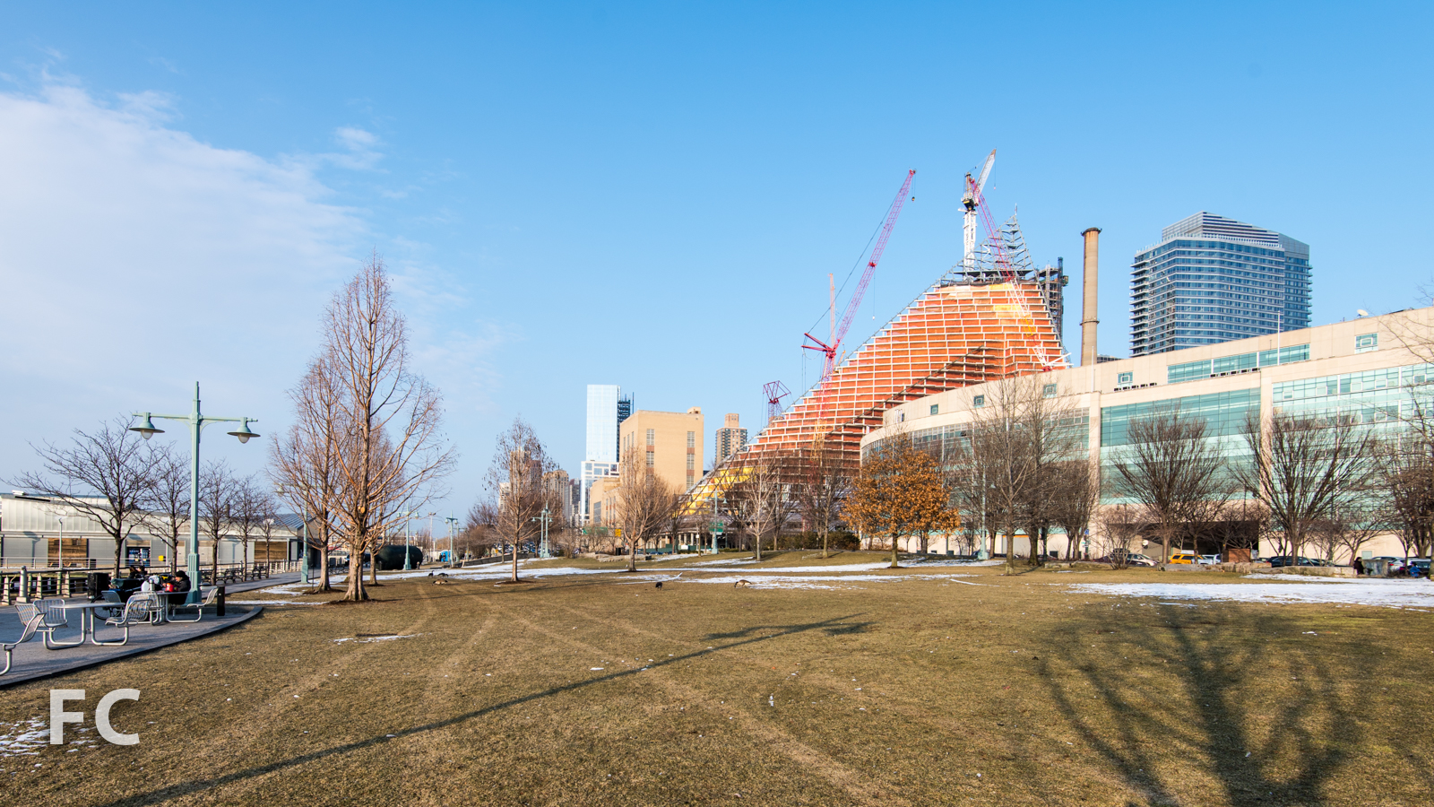 Looking north from Riverside Park.