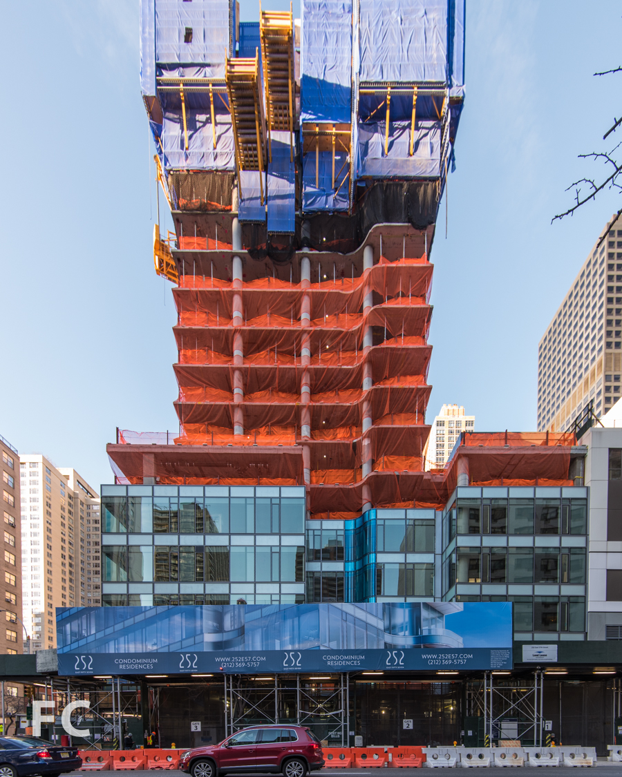 North facade from East 57th Street.