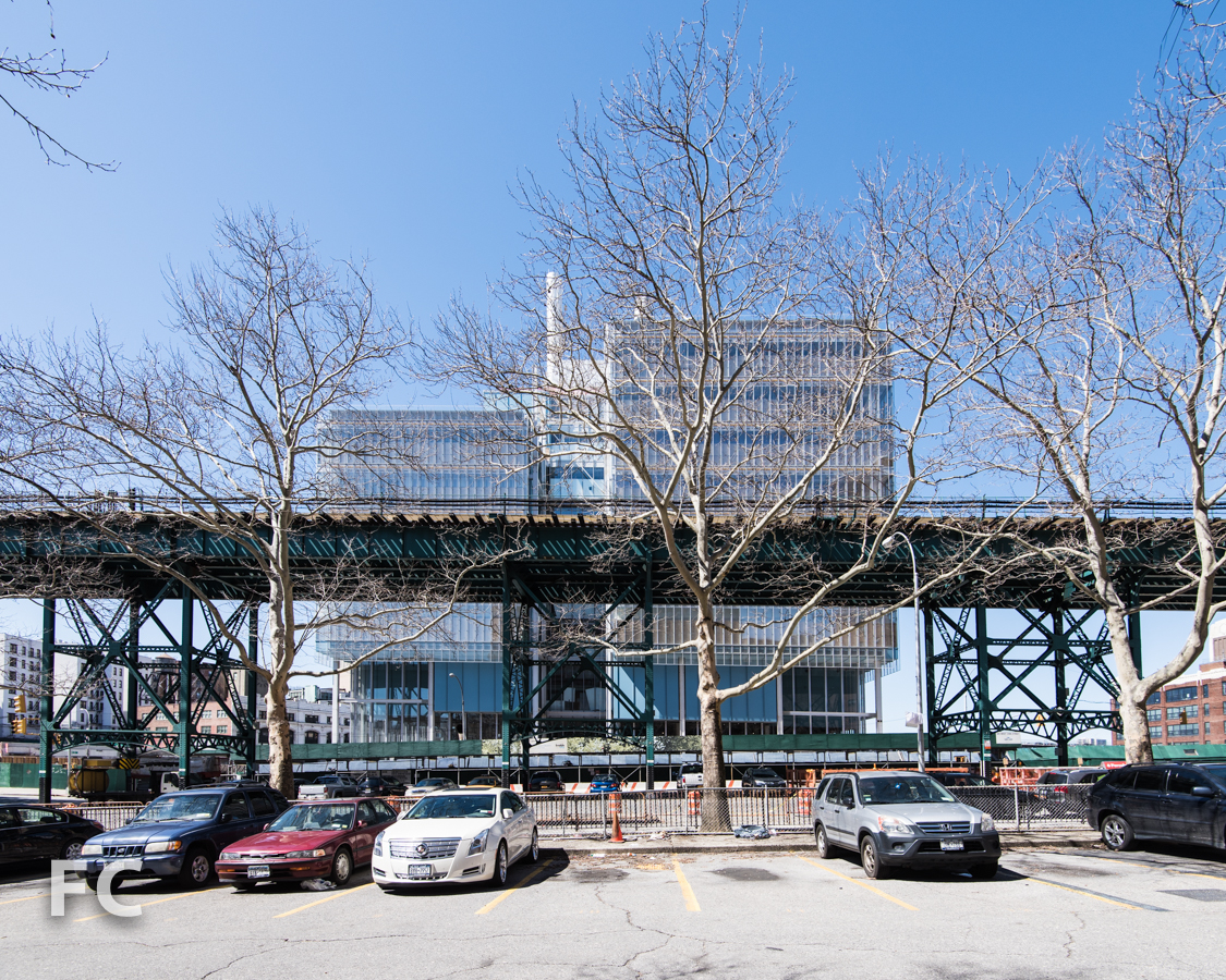 East facade of the Science Center.