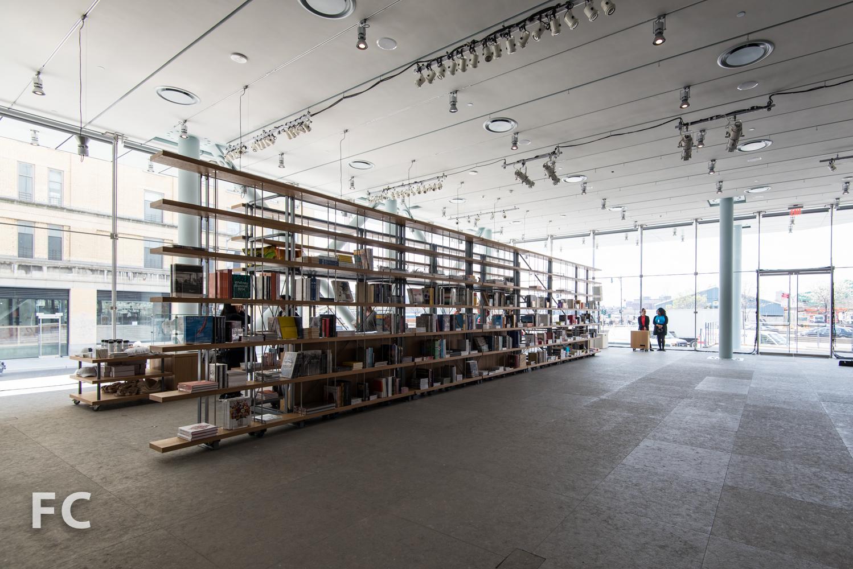 Museum shop shelving.