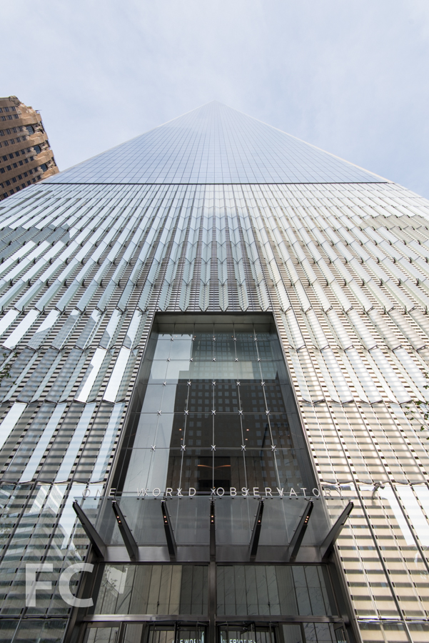 One World Observatory entry canopy.