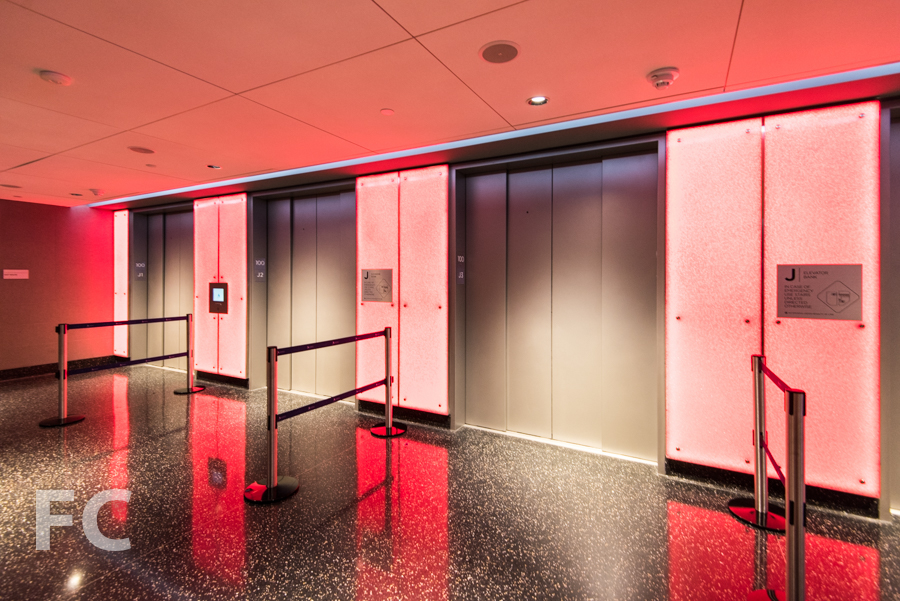 Elevator vestibule.