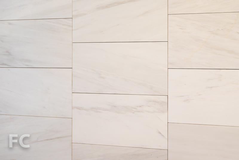 Master bathroom wall tile.
