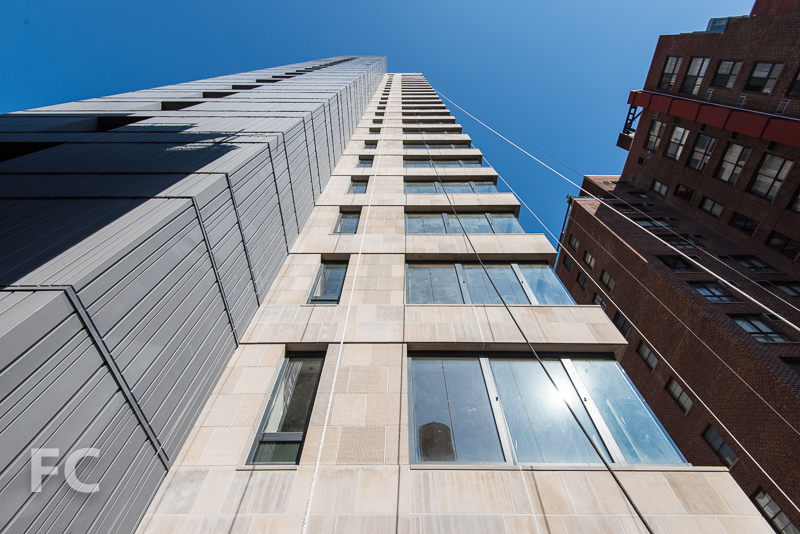 East tower facade.