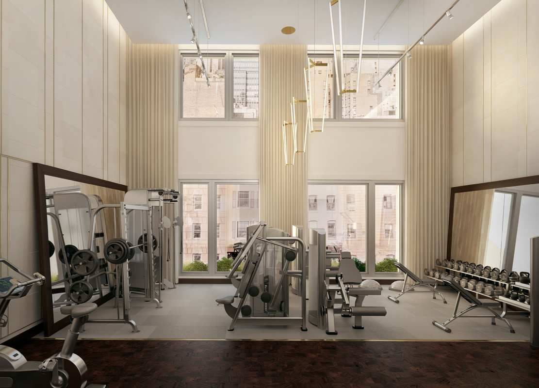 Rendering of the fitness center.Rendering by Visual Unit Worldwide.