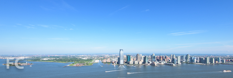 Looking east towards the New Jersey waterfront.
