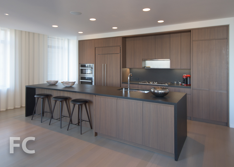 Kitchen mockup in the sales gallery.